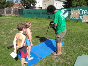 Děti se bavily na Barboře. Foto: Luboš Hostek