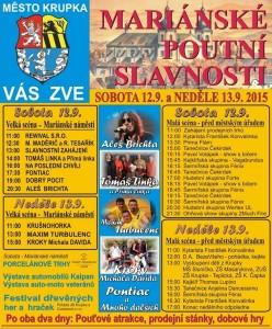 Program slavností v Krupce