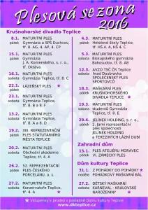 Seznam plesů 2016